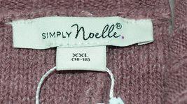 Simply Noelle Brand JCKT222Z Womens Mauve Zippered Sweater Jacket Size XXL image 7