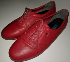 Easy Spirit Motion Womens Red Anti Gravity Oxford Lace Up Size 7 B - $49.97 CAD