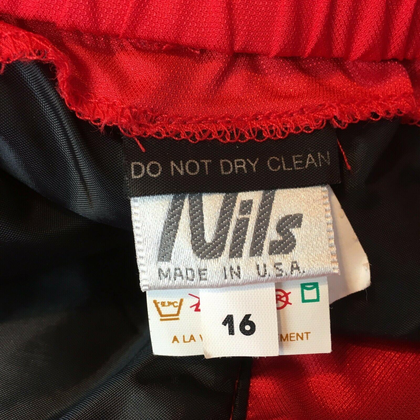 Nils Women's Red Vintage Snowsuit Ski Snow Board Pants Size 16 image 2
