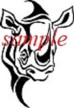 Rhino Head  PDF Cross Stitch Chart, Single Colour, African Wildlife - $8.00