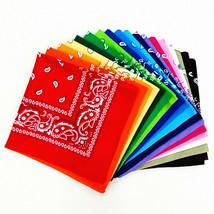 Paisley BANDANAS ~ 6 Pack  (1/2 Dozen) Soft Polyester Unisex scarf U Pic... - $9.49+