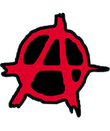 Anarchy punk shaped vinyl sticker 120x125mm Crass Conflict Sex Pistols c... - $3.44