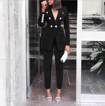 Women's Brand Designer Blue Velvet Embroidered Wear To Work Fashion Blazer Pant  image 5