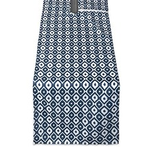 DII CAMZ38580 BLUE IKAT OUTDOOR TABLERUNNER WITH ZIPPER 14x108, w - £8.31 GBP