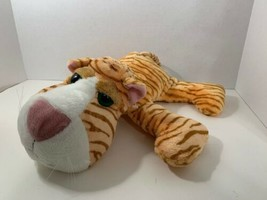 Russ Berrie Co Zoey plush orange white tiger striped tabby kitten cat gr... - $9.94