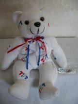 Lucky 777 White Teddy Bear. (#0190) - $7.99