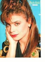 Paula Abdul teen magazine pinup clipping red lipstick Uk magazine