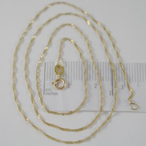 18K YELLOW GOLD MINI SINGAPORE BRAID ROPE CHAIN 20 INCHES, 1 MM, MADE IN ITALY image 1