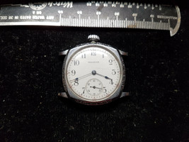 Vintage Blue Hand Waltham Cushion Spartan Case Watch For You To Fix Or For Parts - $130.50