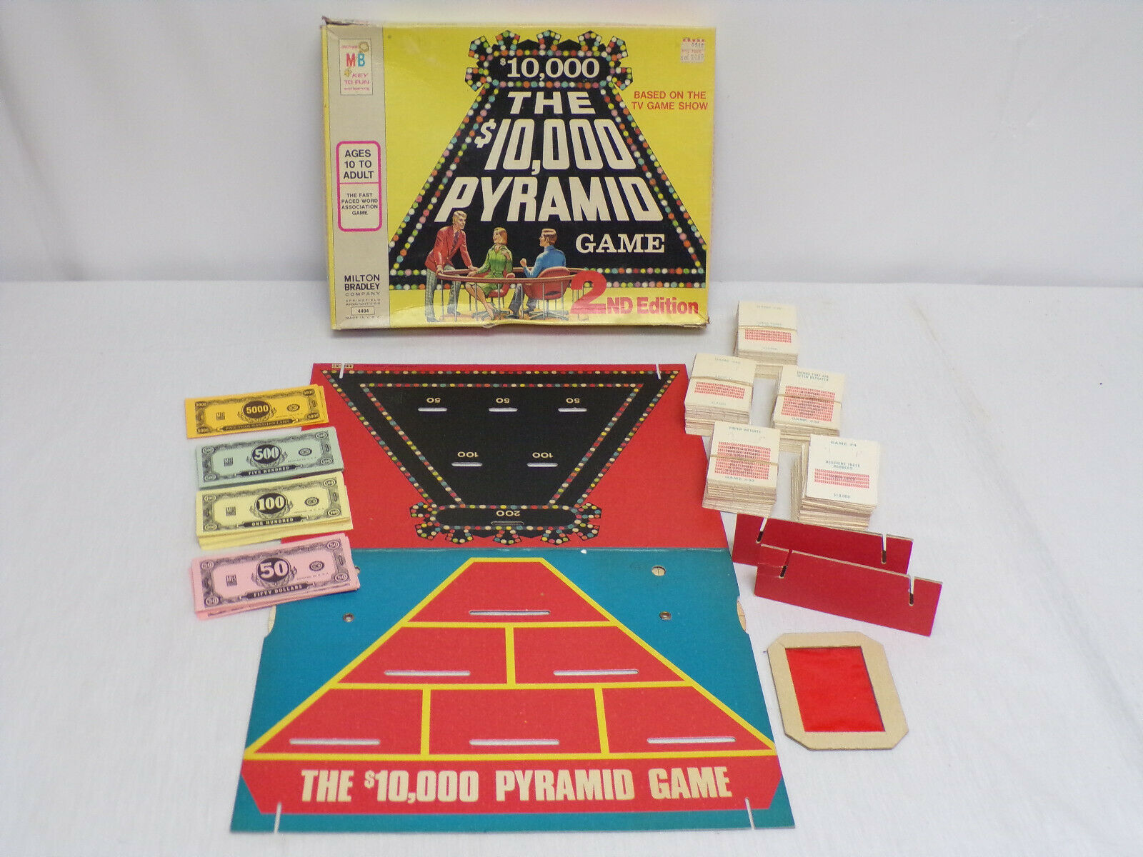 Primary image for ORIGINAL Vintage Milton Bradley 1974 $10,000 Pyramid Board Game 2nd Edition