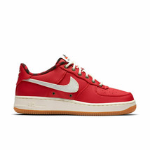 NIKE AIR FORCE 1 LV8 GS SHOES SIZE 6.5Y red sail cobalt 820438 601 - $55.14