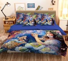 3D Flute Girl Paint 26 Bed Pillowcases Quilt Duvet Single Queen King US Summer - $102.84+