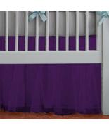 Purple Tulle Lined Ruffled Crib Skirt / Mini Crib Skirt - $39.99+
