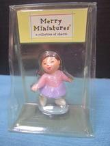 Glitter Hallmark Merry Miniature 2001 Brown hair girl Kids Collection by... - $4.90