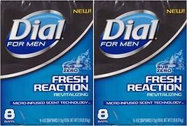 Dial for Men Fresh Reaction, Sub Zero Glycerin Bar Soap, 4 Oz Bars, 8 Ct... - $22.11