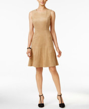 Alfani Sleeveless Faux-Suede Fit & Flare Dress,SIZE6 - $27.72
