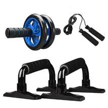 4-in-1 AB Wheel Roller Kit Abdominal Press Wheel Pro with Push-UP Bar Ju... - $63.67