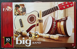 FAO Schwarz BIG BAND 10 Pc Music Set*New In Box*5F61F2D*Bongo-Guitar-Tam... - $48.51