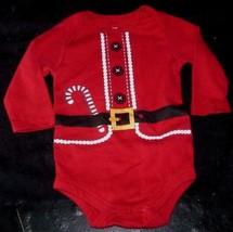 Navidad Papá Noel Size 6 -9 Meses Bebé Rojo Pijama Pelele Creeper Mono - $17.59