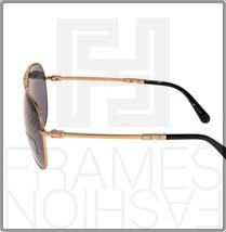 BVLGARI Le Gemme Black Rose Gold 18K Plated POLARIZED Foldable Sunglasses 5034 image 2