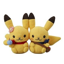 Pokemon Center Original Pikachu Pair Plush Doll Pok?mon little Tales Pic... - $46.57
