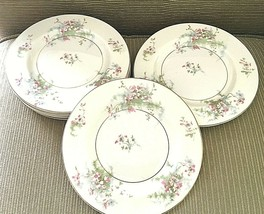"Lot of 7 Theodore Haviland New York APPLE BLOSSOM Bread Appetizer Plates 6 3/8"" - $27.55"