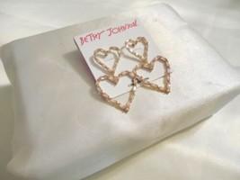 Betsey Johnson Gold-Tone Crystal Open Heart Double Drop Earrings B801 $45 - $22.07
