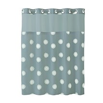 Hookless RBH40MY031 Sunburst Floral Shower Curtain with Peva Liner -  Gr... - $63.34