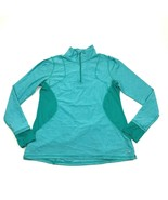 CHAMPION 1/4 Zip Mock Running Shirt Women's Size Large Teal Pullover Lon... - $23.53