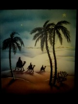 Vintage Christmas Card Wise Men Palm Trees Desert Journey - $3.00