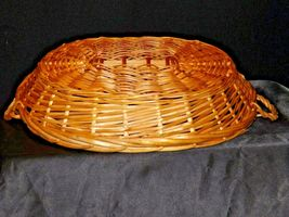 Handmade Woven Wicker Basket with Double Handles AA-191712 Vintage Collectible image 5