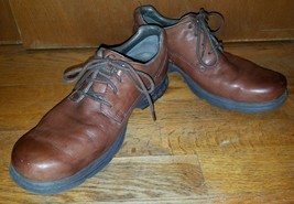 Merrell Brown Leather Lace Up Casual Trail Spring Walking Oxfords Men's ... - $37.00