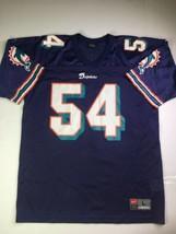 VINTAGE Nike NFL Zach Thomas Miami Dolphins Blue Football Jersey Sz Adult Large - $46.74