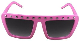 NEW Quay Eyeware Australia 1414 Matte Pink Silver Studs 100% UV Sunglasses