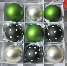 x9 Krebs Lauscha Thuringian Christmas Tree Glass Ornaments Polka Dot Ger... - $39.59