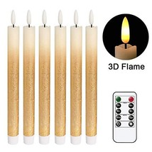 DRomance LED Flameless Taper Candles Battery Operated with Remote and Ti... - $28.33