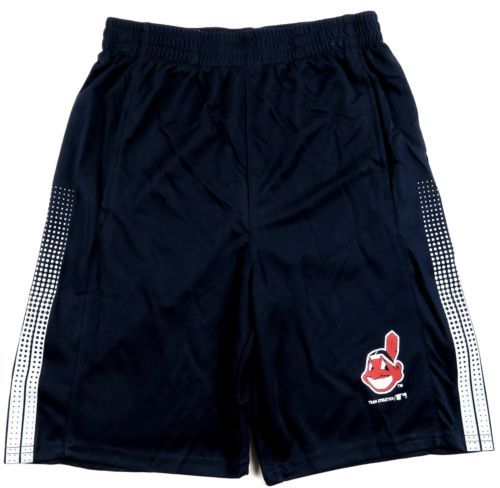 Boy's 8-18 Cleveland Indians Shorts MLB Genuine Team Color Youth Baseball