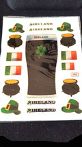 ireland theme mixed sheet of peel off stickers 1 sheet ideal cards, papercraft,