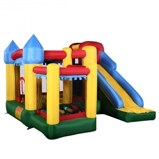 Costway Inflatable Bounce House with Balls and Super Slide