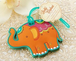 1 Lucky Elephant Luggage Tag Wedding Party Favor Reception Gift Honeymoo... - $2.58