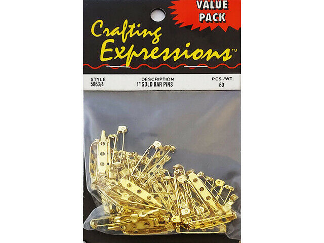 """Crafting Expressions Value Pack 1"""" Gold Bar Pins #5863"""