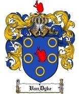 Vandyke Family Crest / Coat of Arms JPG or PDF Image Download - $6.99
