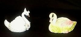 Swan Figurines Trinket /Planter AB 572 Vintage image 2