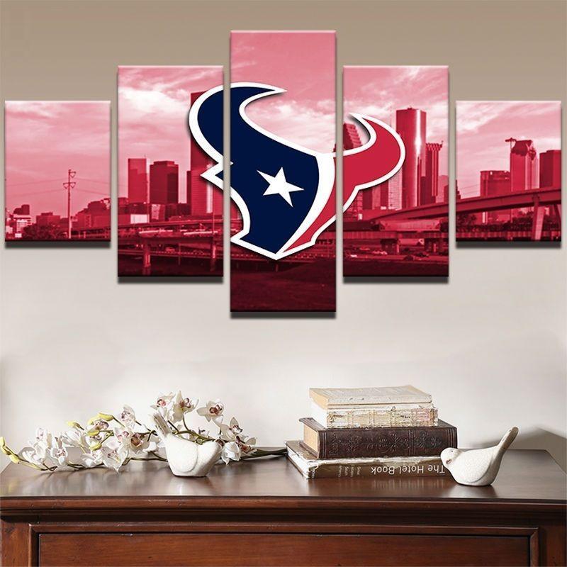 Houston Texans Canvas 5 Piece Canvas Art Wall Art Picture