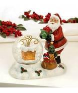 10018551 SHIPS FREE Christmas Collection Santa and Chimney LED Snow Globe - $26.29
