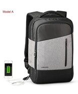 BDF Men Casual Daypacks USB Charging Laptop Backpack Phone Sucking Trave... - $67.68