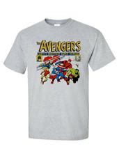 The Avengers tee shirt retro silver age marvel comics Giant-Man Thor Hulk cotton image 2