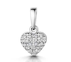9KW Diamond Pendant Gold Diamond Pave Heart Pendant .5ct vvs2 diamonds in gift b