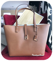 NWT MICHAEL KORS PEBBLED LEATHER KARSON LARGE CARRYALL TOTE BAG IN LUGGAGE - $88.88