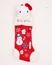 "2009 Sanrio Hello Kitty Christmas Stocking Plush Head Rare Design Large 24"" - $32.95"